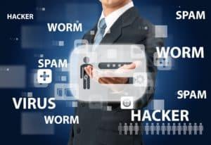 Data hacker virus worm spam