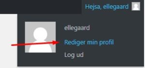 Adgang til brugerprofil