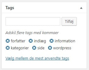 Screenshot 33 tags noegleord