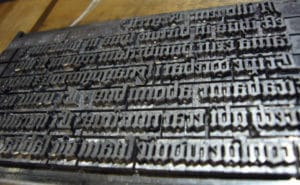 Ingen typografi test uden et typografisk billede