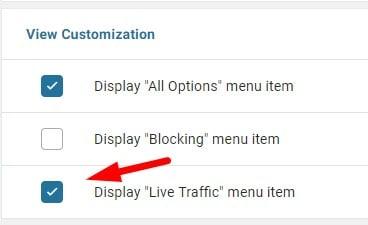 Wordfence View Customization