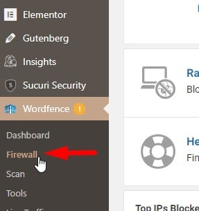 Wordfence firewall indstillinger