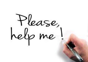 Husk at kalde på hjælp, når du har brug for det