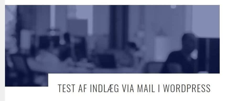 Send indlæg som email