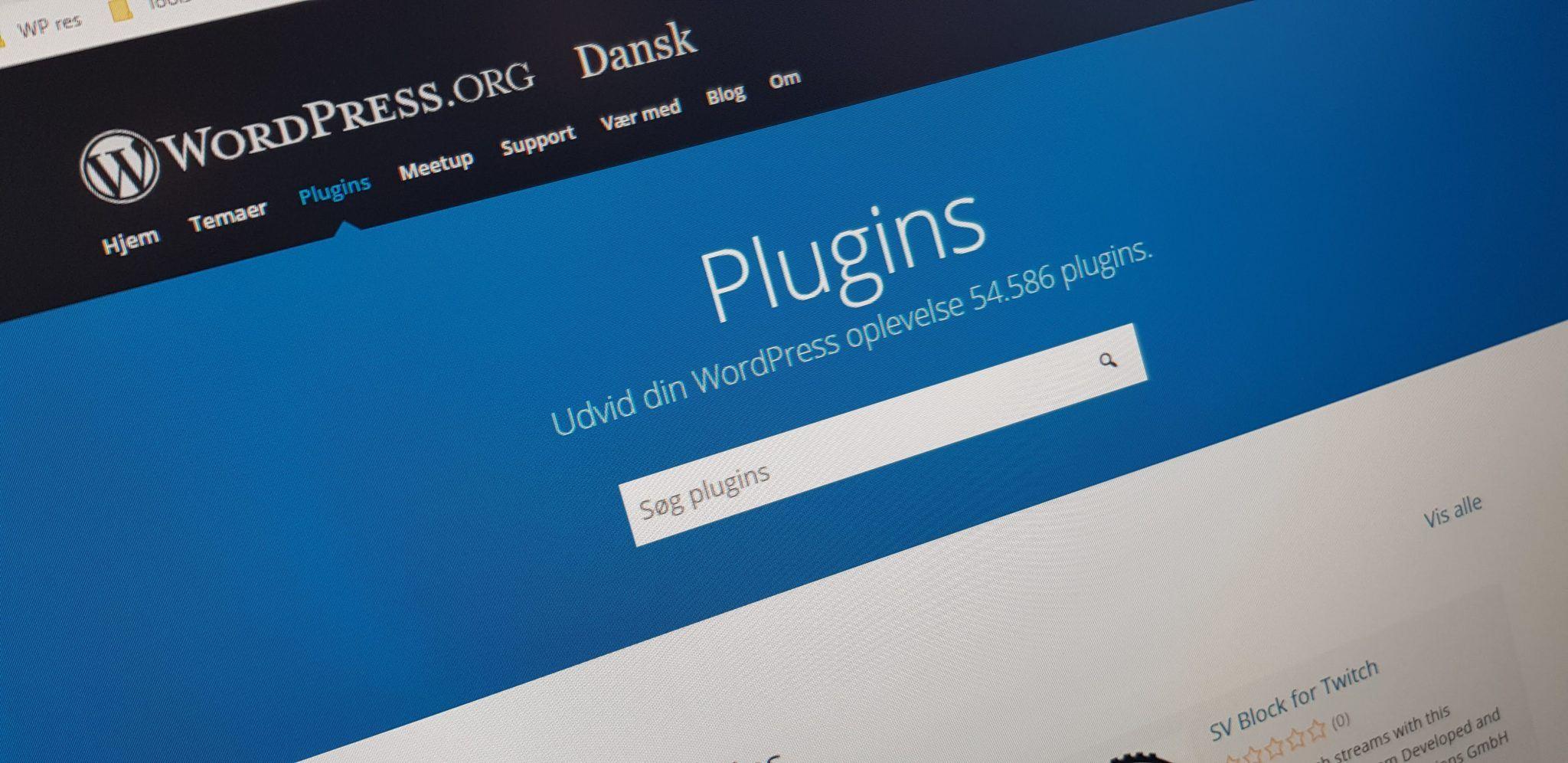 Vær kritisk overfor WordPress plugins