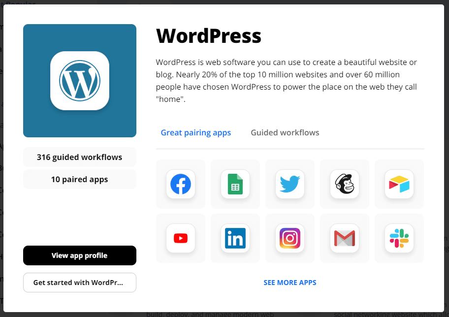 Screenshot ifttt wordpress