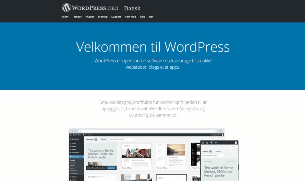 Wordpress.org er webstedet for open source produktet
